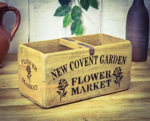 Medium Vintage Box Covent Garden Flowers